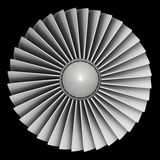 Turboladdarejetmotor vektor illustrationer