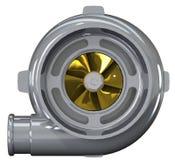 Turboladdarekompressorn 3D framför Royaltyfria Bilder