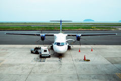turboprop αεροπλάνων στοκ εικόνα