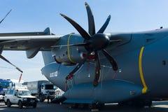 Turboprop μηχανή Europrop TP400-D6, στρατιωτικός άτλαντας airbus A400M αεροσκαφών μεταφορών στοκ φωτογραφίες
