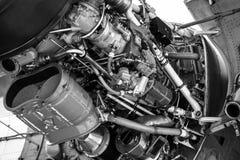 Turboprop μηχανή Rolls-$l*royce Τάιν Rty 20 κινηματογράφηση σε πρώτο πλάνο MK 22 ενός αεροσκάφους Transall γ-160 Στοκ Φωτογραφίες