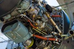 Turboprop μηχανή Rolls-$l*royce Τάιν Rty 20 κινηματογράφηση σε πρώτο πλάνο MK 22 ενός αεροσκάφους Transall γ-160 Στοκ φωτογραφία με δικαίωμα ελεύθερης χρήσης