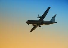turboprop самолета Стоковое Фото
