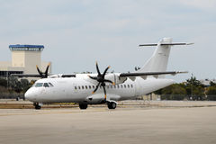 Turboprop airplane Stock Image