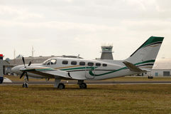 Turboprop airplane Royalty Free Stock Photos