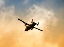 Turboprop airplane Royalty Free Stock Photo