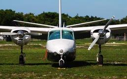 Turboprop airplane Stock Photo