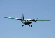 Turboprop airplane approaching Stock Photography