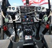 Turboprop airplane cockpit Stock Photo