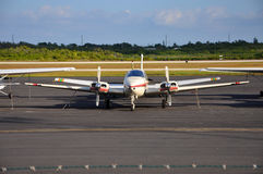 Turboprop airplane at Key West airport, Florida, USA Royalty Free Stock Photos