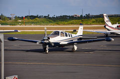 Turboprop airplane at Key West airport, Florida, USA Stock Image