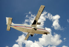 Turboprop airplane Royalty Free Stock Photography