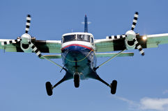 Turboprop passenger airplane. Stock Images