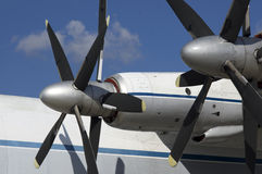 Turboprop transport Royalty Free Stock Photography