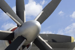 Turboprop transport Stock Photography