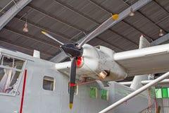 Turboprop-Triebwerk Flugzeuge Lizenzfreie Stockfotos