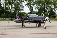 Turboprop-Triebwerk RAF Short Tucanos ZweiSeat grundlegender Trainer Lizenzfreie Stockfotos