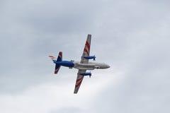 Turbopropulsore del twin-engine di Ilyushin Il-114 Immagine Stock Libera da Diritti