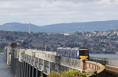 Turbostar diesel multiple unit crossing Tay bridge Stock Image