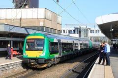 Turbostar diesel at Wolverhampton railway station Stock Images