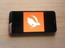 Turbovpn app stock foto's