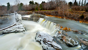 Turbulant Waterfall. Photograph of the Hogsback Falls in Winter Royalty Free Stock Photography