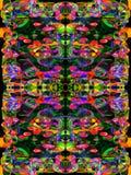 Turbulence multicolore dans le rose et le bleu Images libres de droits