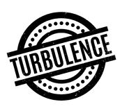 Turbulence rubber stamp. Grunge design with dust scratches. Effects can be easily removed for a clean, crisp look. Color is easily changed Royalty Free Stock Images