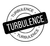 Turbulence rubber stamp. Grunge design with dust scratches. Effects can be easily removed for a clean, crisp look. Color is easily changed Royalty Free Stock Photos