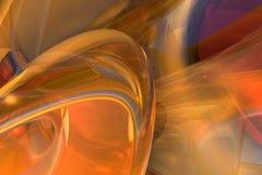 Turbulencia anaranjada Stock de ilustración