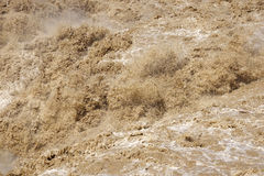 Turbulent current. The close-up of turbulent current of Yellow River Royalty Free Stock Photos