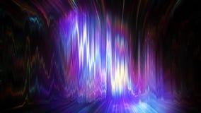 Turbulent distorsion av färgrik ljus vjöglasbakgrund arkivfilmer