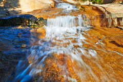 The turbulent flow on the megalith Royalty Free Stock Photo