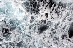 He turbulent flow from the ship. The turbulent flow from the ship . sea water foam and spray shot vertically royalty free stock photos