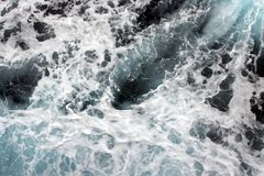 The turbulent flow from the ship. He turbulent flow from the ship . sea water foam and spray shot vertically royalty free stock image