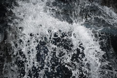 Turbulent Flows Of Water With Splashes And Bubbles Stock Images