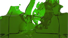 Turbulent green liquid filling the frame stock video