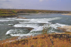 Turbulent Rapids On The River. Royalty Free Stock Image