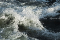 Turbulent river water Royalty Free Stock Photography