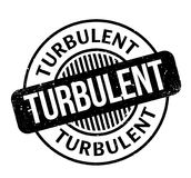 Turbulent rubber stamp Royalty Free Stock Photos