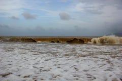 Turbulent seas of Vietnam Royalty Free Stock Photography
