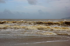 Turbulent seas of Vietnam Stock Images