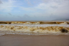 Turbulent seas of Vietnam Stock Photo