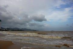 Turbulent seas of Vietnam Royalty Free Stock Photo
