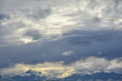 Turbulent Sky. Stormy Clouds over the Olympic Mountain Range Stock Photography