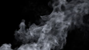 Turbulent smoke. Black background with а fast moving smoke with sharp turbulent areas stock video footage