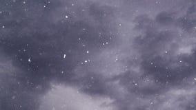 Turbulent snowfall stock video footage