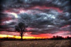 Turbulent solnedgång Fotografering för Bildbyråer