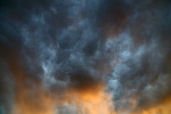 Turbulent storm clouds Royalty Free Stock Photography