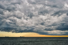 Turbulent stormy sky. An approaching storm creates a dramatic sky Royalty Free Stock Photos